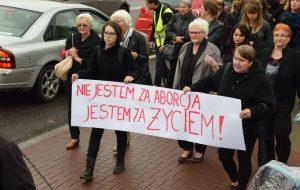 Чорны пратэст у Беластоку. Фота: poranny.pl