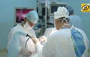 Гродзенскія ўрачы ўпершыню правялі аперацыю пры дапамозе вадабруйнай хірургіі