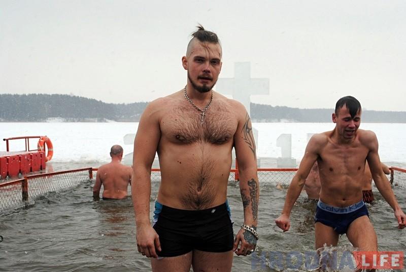 Гродзенцы на Юбілейным возеры святкавалі Вадохрышча