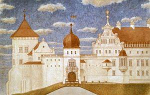 Стары Замак у Гродне, від з усходу. Мал. арх. Бачкова