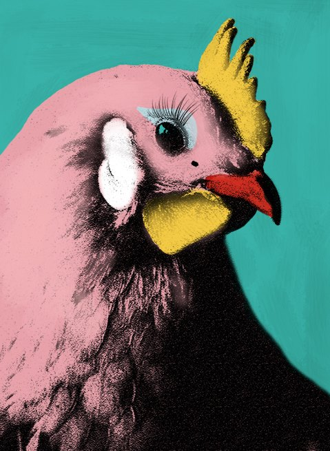 Малюем Chicken Glam