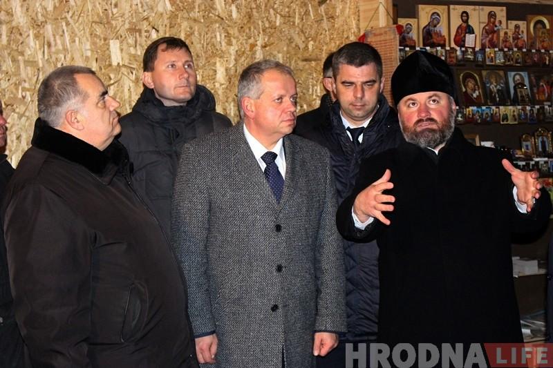 Міністр культуры Юрый Бондар наведаў у Гродне Стары замак і Каложу