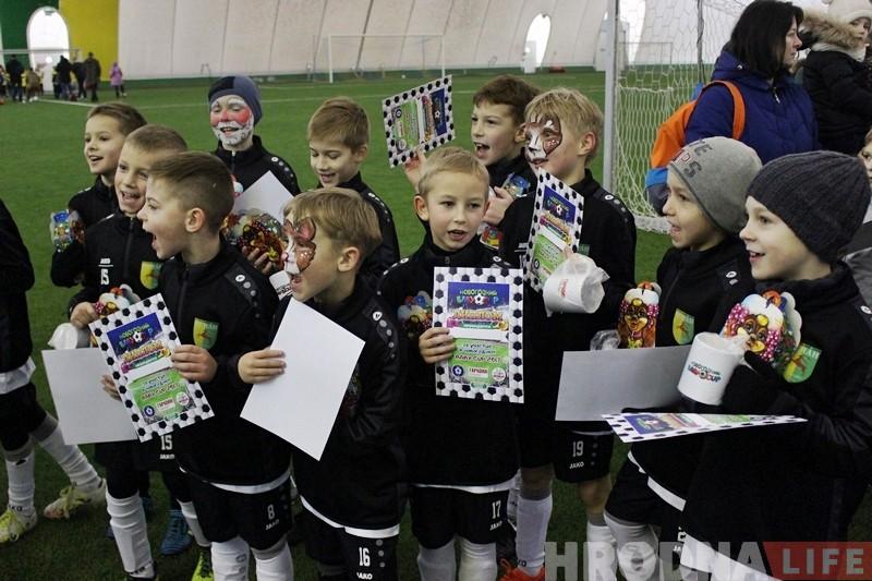 """У навагоднім турніры па футболе """"Baby cup"""" прыняло ўдзел больш за 120 дзяцей"""