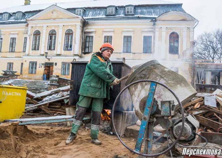 Фото: как продолжается реконструкция дворца в Святске