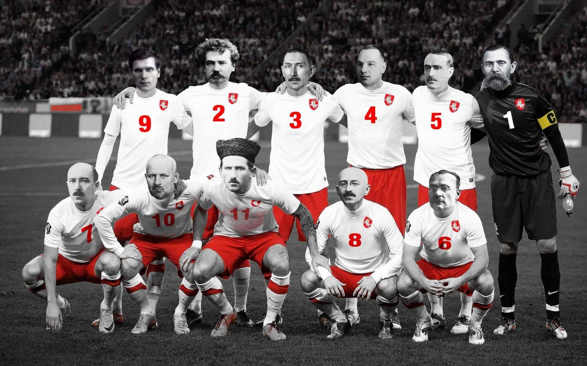 Фотафакт: як «выглядала» футбольная каманда айцоў БНР