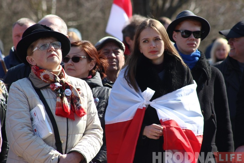 У Каложскім парку гродзенцы адзначылі 100 гадоў БНР