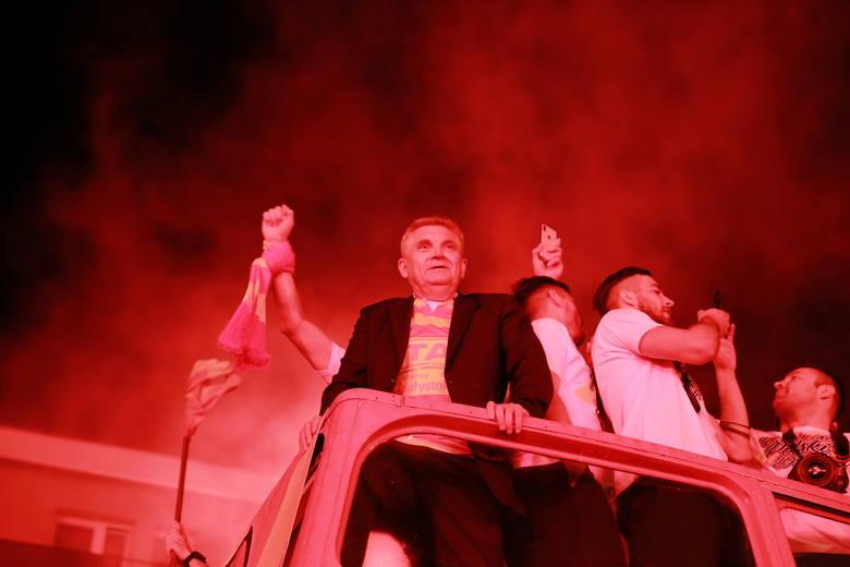 """Беласток - горад дзе жывуць футболам: """"Ягелонія"""" зноў сярод лідараў чэмпіянату Польшчы"""