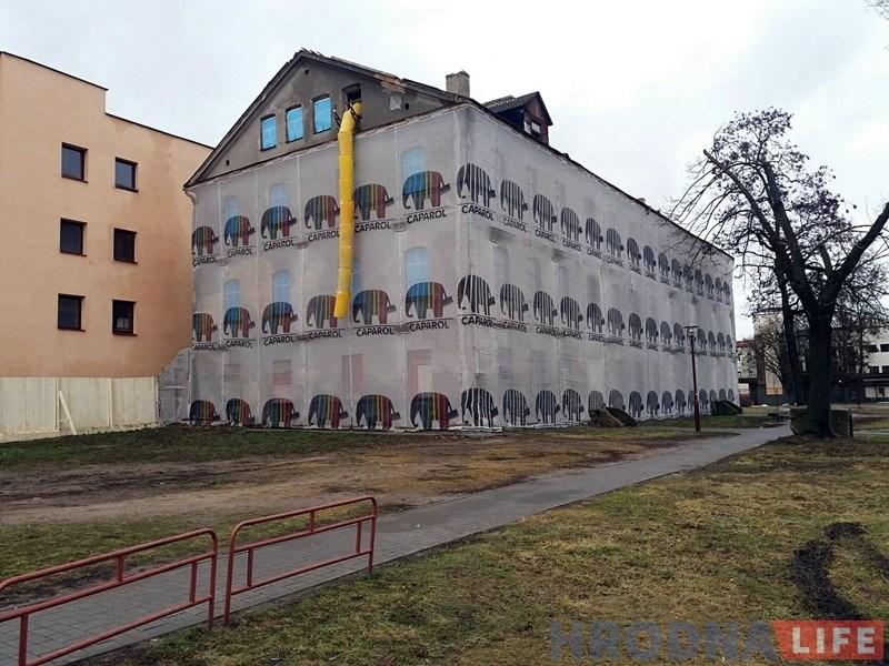Фотафакт: Сямашка паказаў свой новы аб'ект у цэнтры Гродна