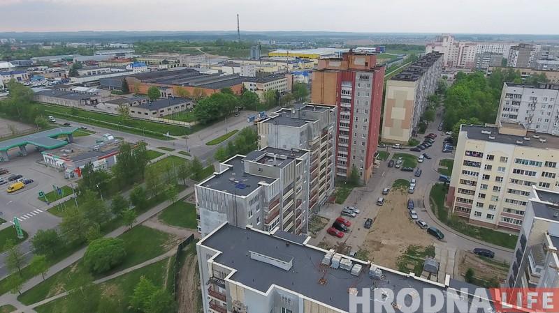 Раёны, кварталы: лётаем над Дзевятоўкай
