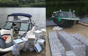 Литовцы задержали на Немане туристические катера полные контрабандных сигарет