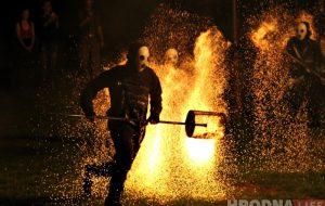 ФОТА: відовішчнае вогненнае шоў прайшло ў парку Жылібера