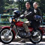 Каб прыехаць у Гродна пара з Расіі на савецкім матацыкле «Мінск» пераадолела 2500 км