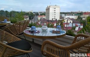 Старый город как на ладони: на крыше ТД «Неман» открылась смотровая площадка и кафе