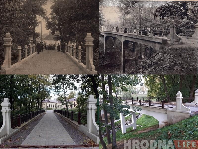Унікальная знаходка: два старых фота распавядаюць гісторыю аднаго моста ў Гродне