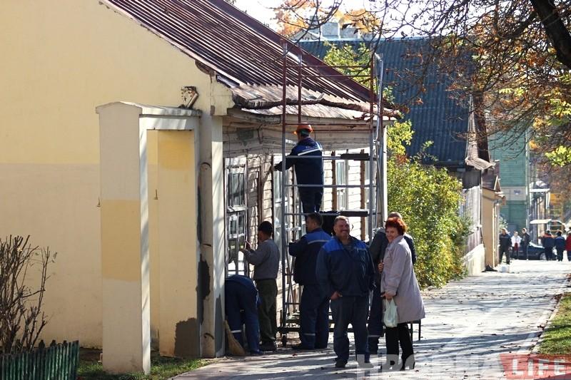 Паспець да панядзелка: Гродна рыхтуюць да прыезду Лукашэнкі