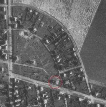 Былая афіцэрская калонія ў 1944 г. Абведзены дом па вул. Астроўскага 4