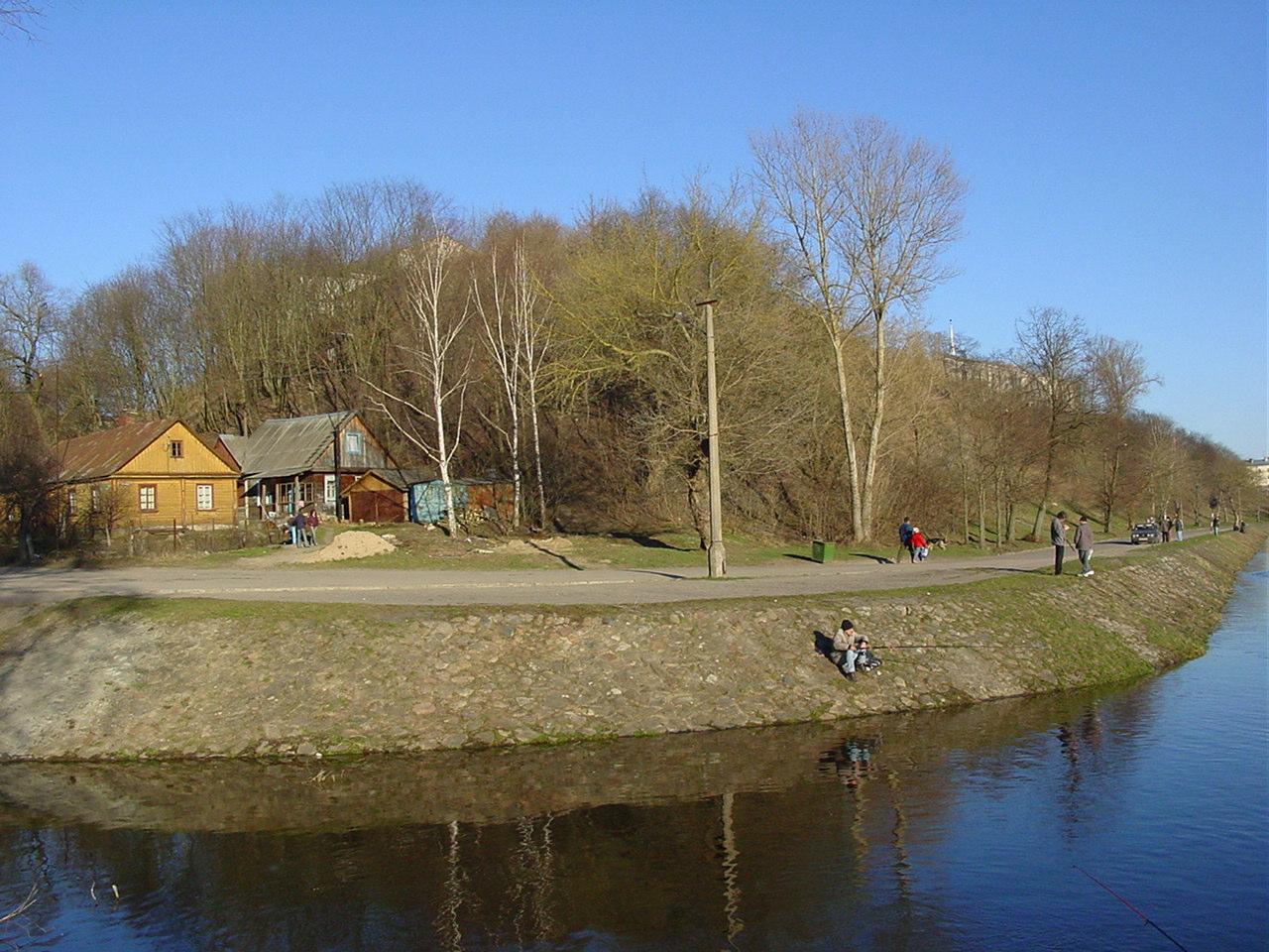 Вусце Гараднічанкі ў 2005 г. З дрэваў на здымку не засталося ніводнага