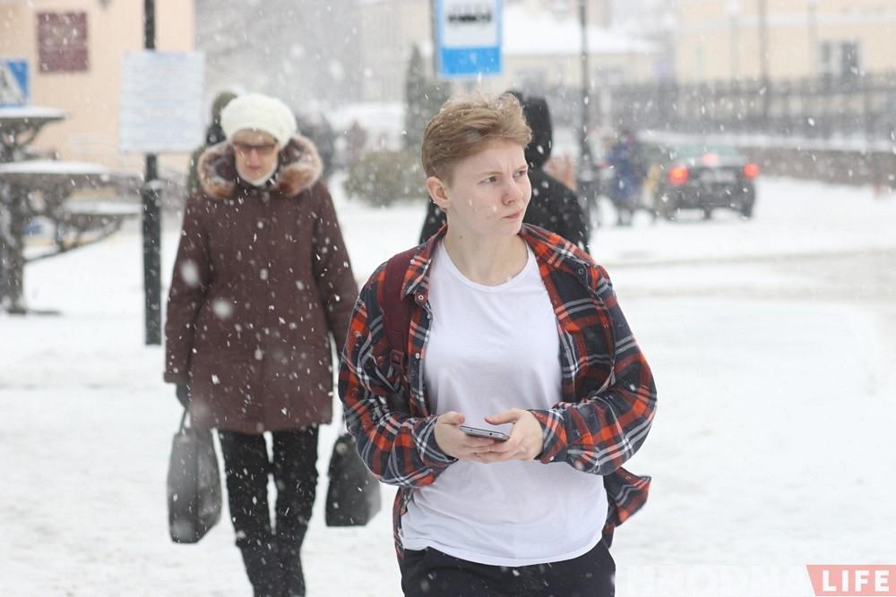 Фотарэпартаж: Гродна засыпае снегам