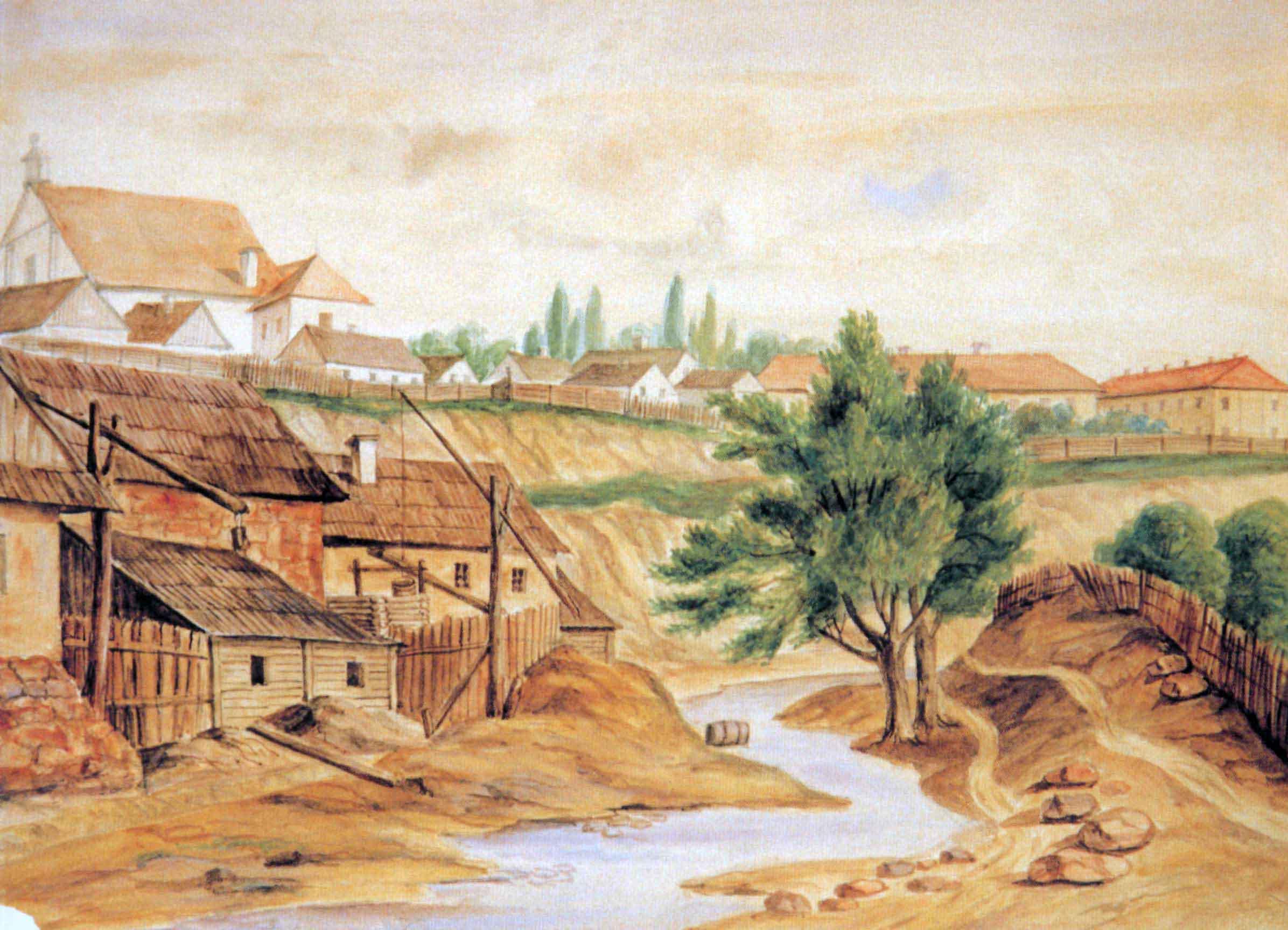 Школьны двор: як выглядаў старадаўні квартал, які знішчылі пасля вайны
