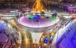Смотрите, как выглядит новогодний Гродно с высоты