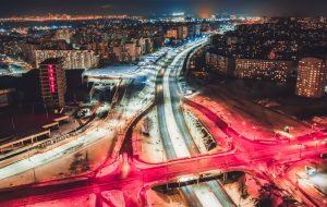 Выглядит шедеврально: посмотрите с высоты на дороги Гродно и автомобилистов. Новое видео от Сергея Морозова
