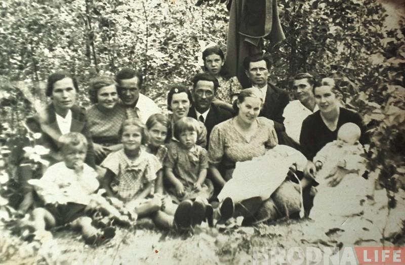 Сям'я Барэвіч ў 1938 годзе