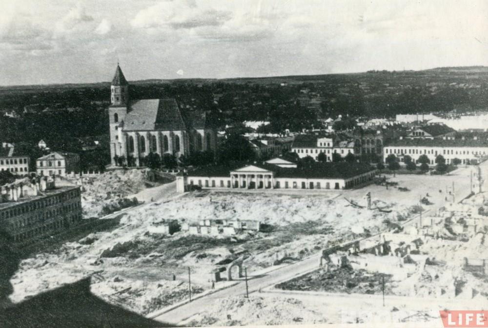 Глядзіце, як выглядаў цэнтр Гродна падчас Другой сусветнай (рэдкія фота)
