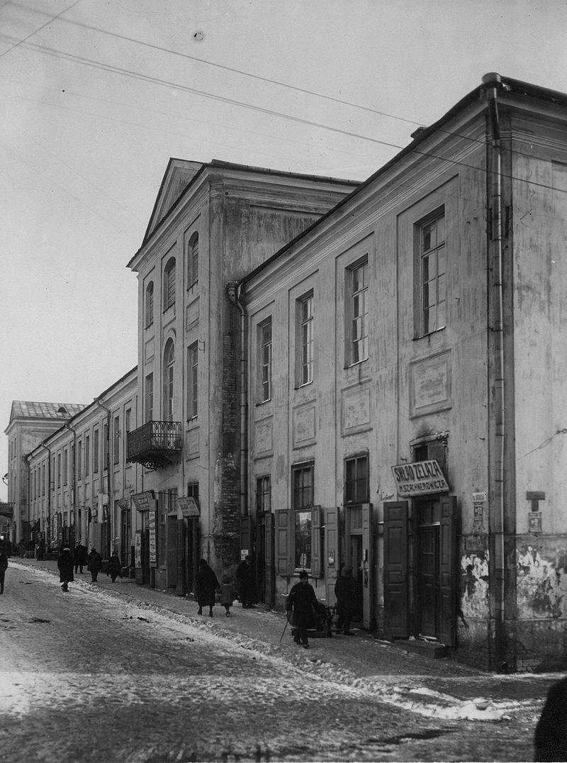 Дабудаванае ў 1874-1875 гг. правае крыло дома Брэгмана. Фота 1926 г.
