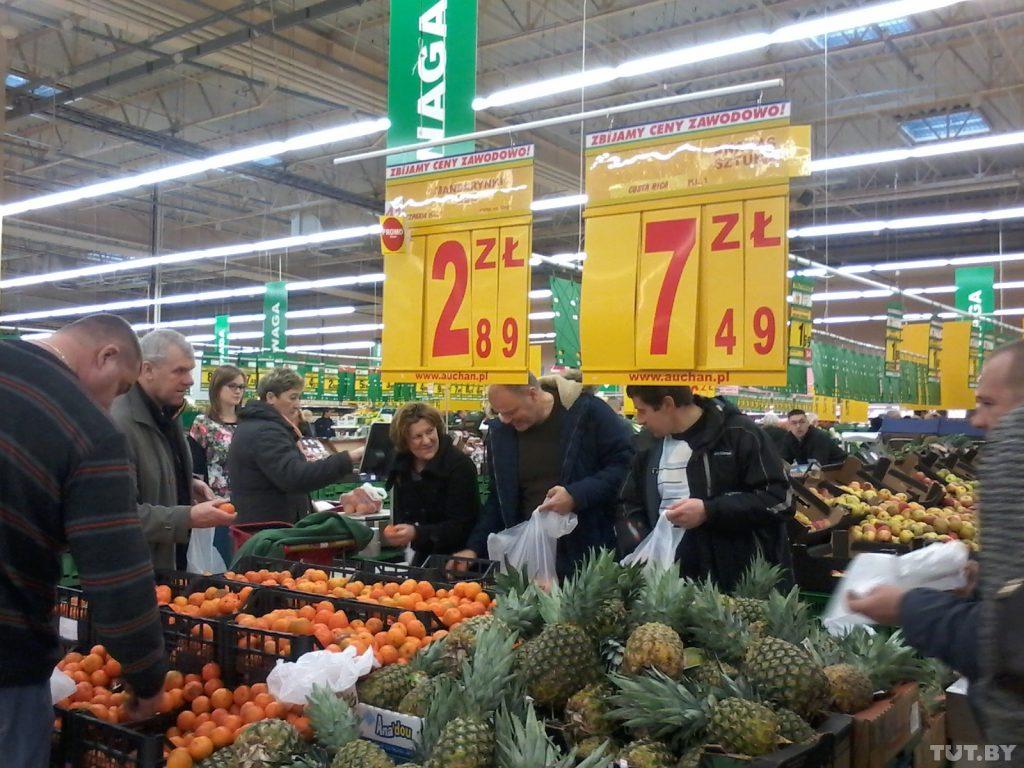 Сколько денег в 2018 году белорусы оставили в польских магазинах?