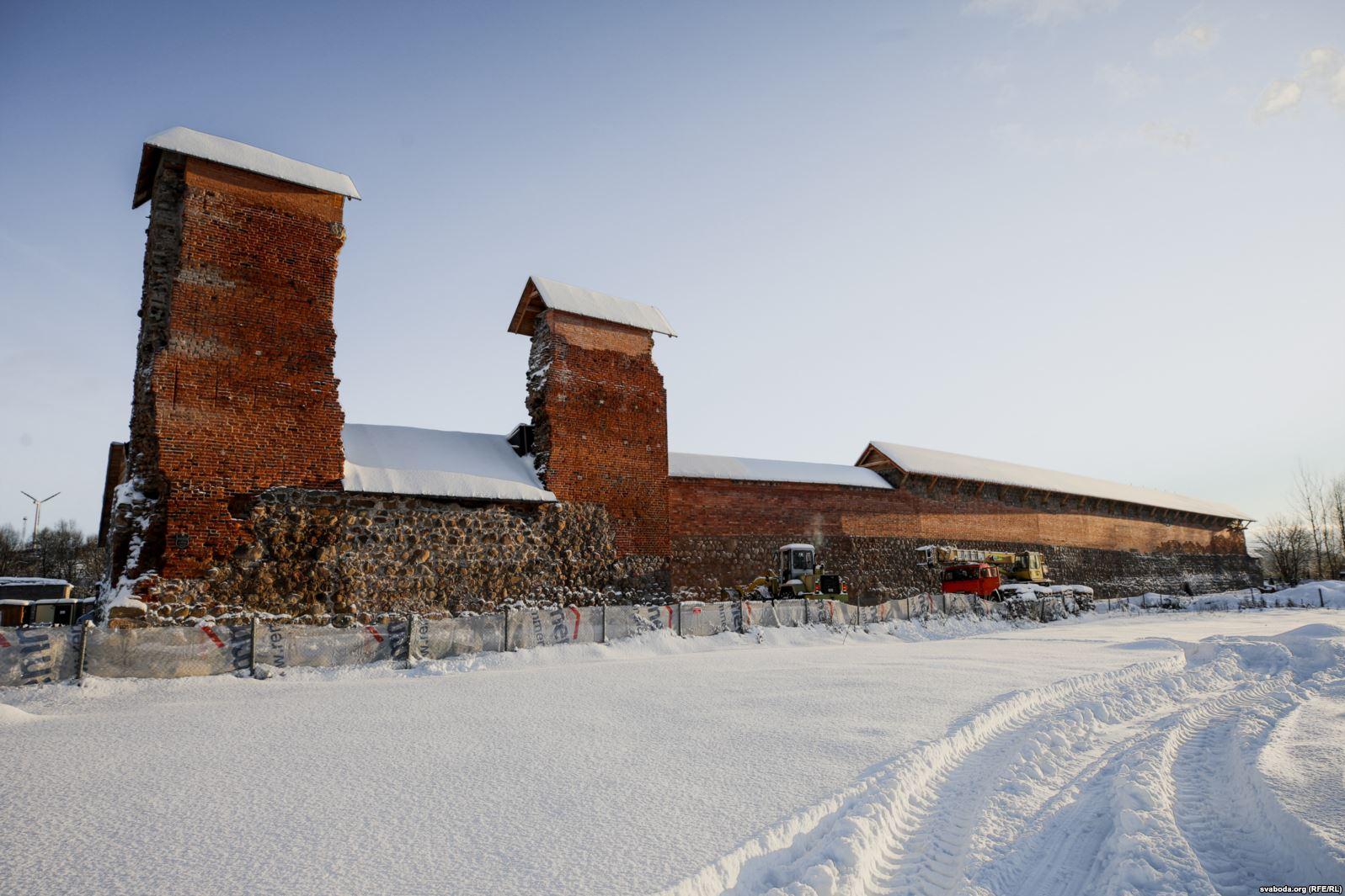 Глядзіце, як выглядае Крэўскі замак пасля чарговага этапу рэстаўрацыі