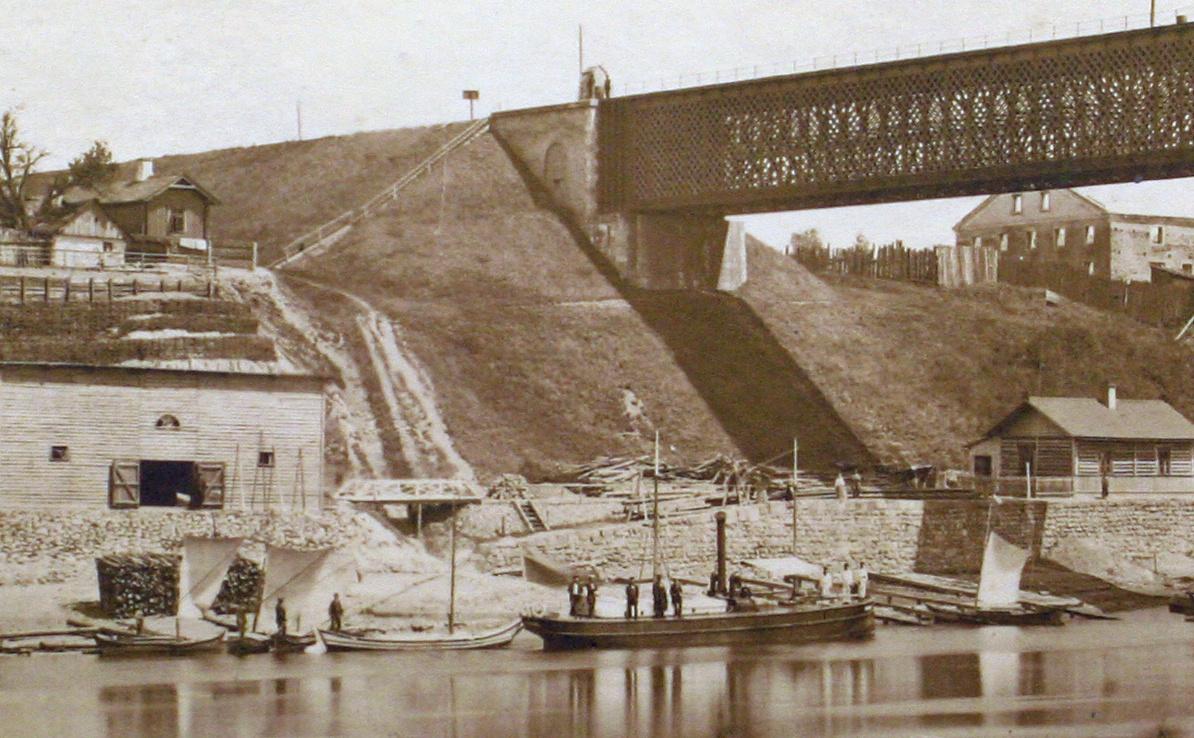 """Інспектарскі параход """"Нёман"""". 1880-я гг."""