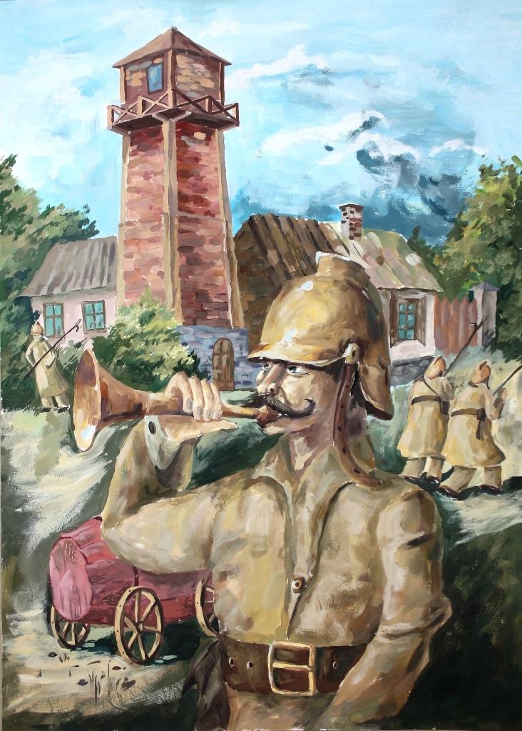 Выстава дзіцячых малюнкаў «Выратавальнікі вачыма дзяцей»