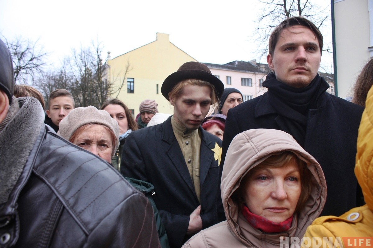Марш памяці: у Гродне ўспомнілі габрэяў, якіх 76 гадоў таму вывезлі на смерць