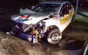 Водитель такси уснул за рулем? Ночью в Гродно произошла серьезная авария