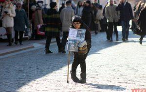 В центре Гродно оживились попрошайки. Некоторых задерживает милиция