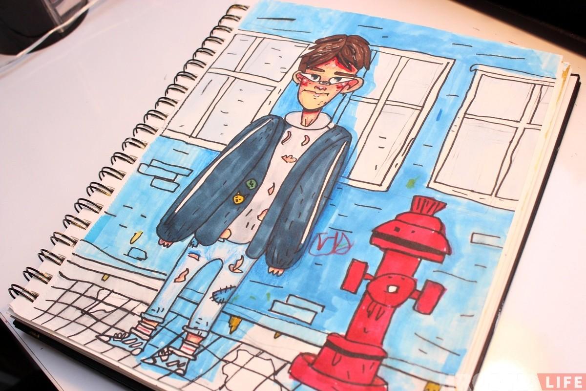 """""""Хачу быць ілюстратарам"""". 9-гадовы гродзенец здзіўляе ўсіх сваімі стыльнымі малюнкамі"""