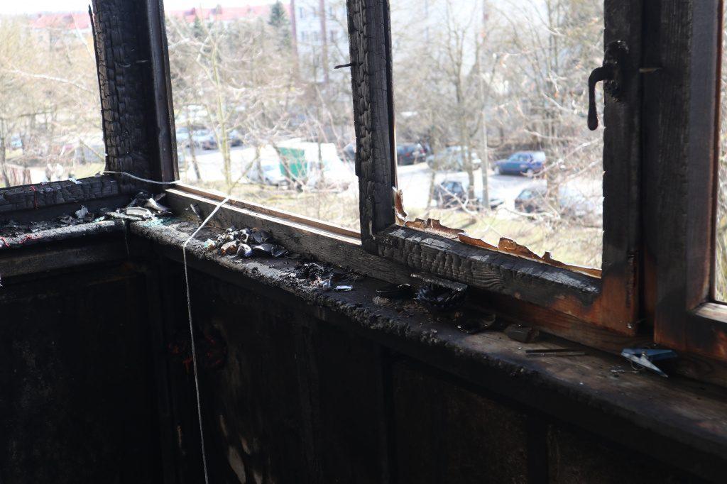 В Гродно из-за непотушенного окурка сгорел балкон