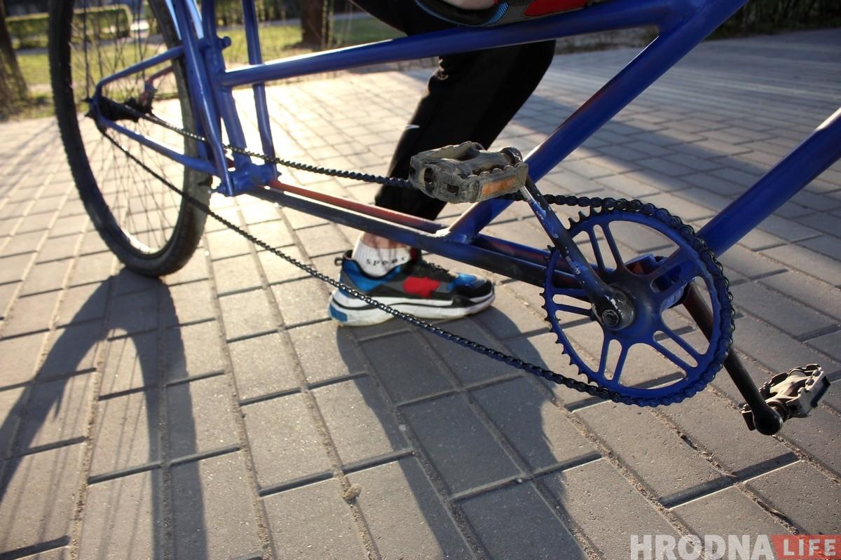 Повар из Гродно за 30 минут сделал себе необычный велосипед