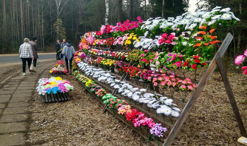Беларусы просят запретить продажу пластиковых цветов