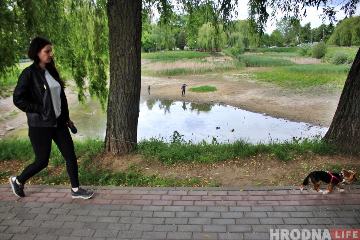 Сажалка на Рэпіна, якая памятае Панятоўскага, высыхае. Яе будуць ратаваць