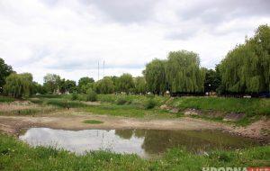 Пруд на Репина, который помнит Понятовского, высыхает. Его будут спасать