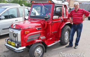 Двигатель – от «Жигулей», руль – от «Фольксвагена». Житель Щучинского района собрал машину с нуля