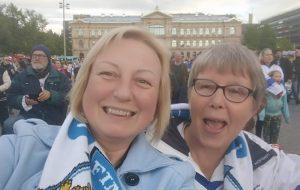 Фотофакт: Что творилось в Хельсинки, когда финские хоккеисты победили канадцев