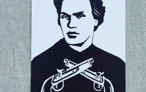 В гродненском магазине раздают дизайнерские открытки с изображением Калиновского