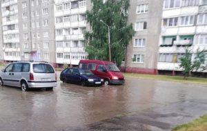 Смотрите, как вчера затопило Гродно после двухчасового дождя