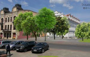 """Блогер предлагает """"восстановить"""" утерянные кварталы Гродно с помощью деревьев"""