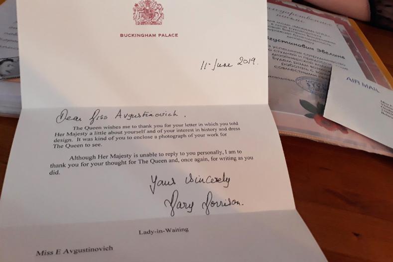Калекцыю адзення 18-гадовай гродзенскай дызайнеркі ўхваліла каралева Вялікабрытаніі