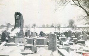 Помнік на магіле Найдуса стаяў да апошняга: у Гродне знайшлі невядомыя здымкі знішчаных яўрэйскіх могілак