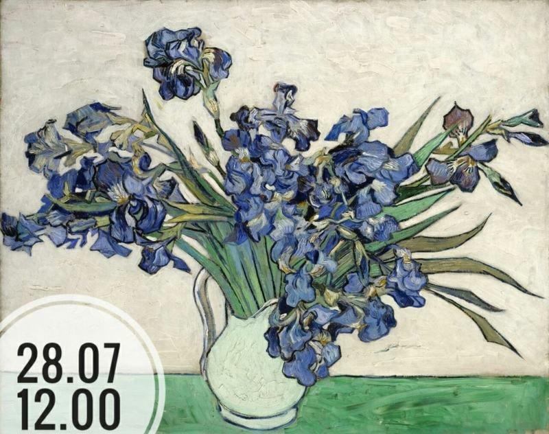 """Майстар-клас па маляванні працы Ван Гога """"Касачы"""""""