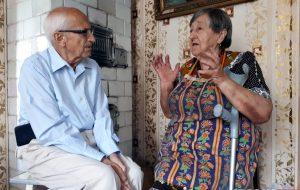 «Такие встречи продлевают жизнь». 90-летний гродненец приехал из польского Эльблонга на встречу с горожанами